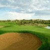 A view of a green at Pinon Hills Golf Course
